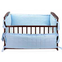 Защита в кроватку - цвет голубой, ТМ Алекс