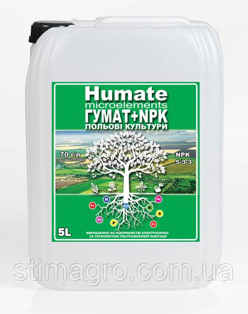 Польові культури Гумат + NPK 5-3-3 (10л) StimAgro Стимулятор регулятор росту