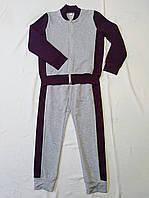 Детский спортивный костюм для мальчиков. Цвет серый + бордовый, фото 1