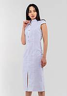 Утонченное платье-футляр длины миди с отложным воротником Modniy Oazis белый 90314, фото 1