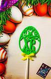 Топпер яйцо ХВ к пасхальному празднику с бантиком ,Топпер Христос Воскрес ОПТ/Розница, фото 9