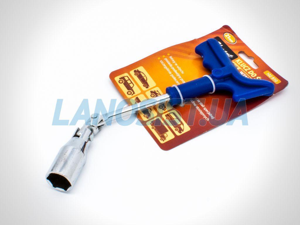 Ключ свечной усиленный 21мм Elegant 102810.