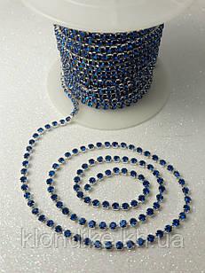 Стразовая цепь ss6 (2,0 мм), цвет - Синий