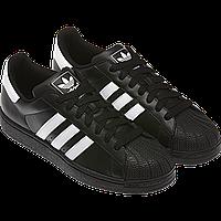 Мужские кроссовки Adidas Superstar черные, фото 1