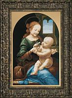 Набор для вышивки крестиком По мотивам Леонардо да Винчи Мадонна Бенуа  37x58 см Чарівна Мить