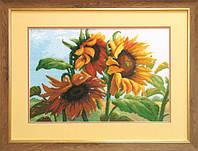 Набор для вышивки крестиком Солнечные цветы 42x28 см Чарівна Мить 8198