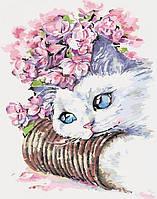 Картина по номерам Нежная кошечка 40х50 см Идейка KH2494(в подарочной коробке)