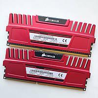 Комплект оперативной памяти Corsair Vengeance DDR3 8Gb (4Gb+4Gb) 1600MHz 12800U CL9 (CMZ8GX3M2A1600C9R) Б/У, фото 1