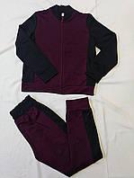 Детский спортивный костюм для мальчиков. Цвет бордовый + черный