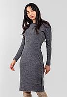 Облегающее платье со вставками на рукавах Modniy Oazis серый 90331, фото 1