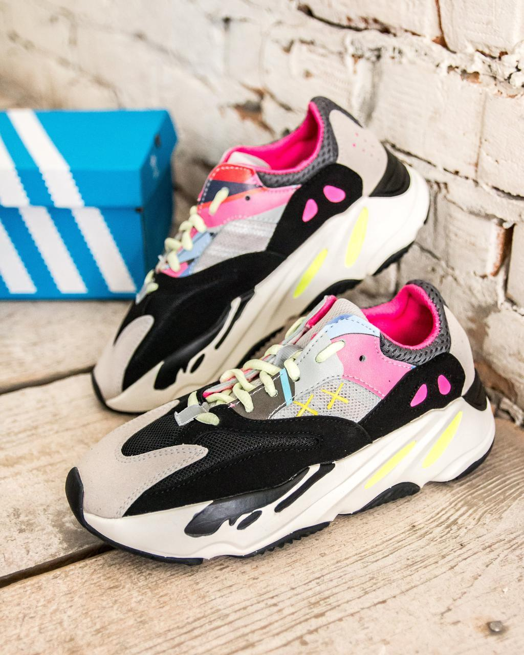 """221d102d Кроссовки женские Adidas Yeezy Boost 700 """"Wave Runners"""" (адидас иззи буст  цветные)"""