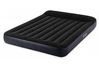 Велюровая  кровать Intex 64143  двухместная 203х152х25 см  KK