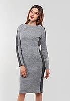 Облегающее платье со вставками на рукавах Modniy Oazis светло-серый 90331/2, фото 1