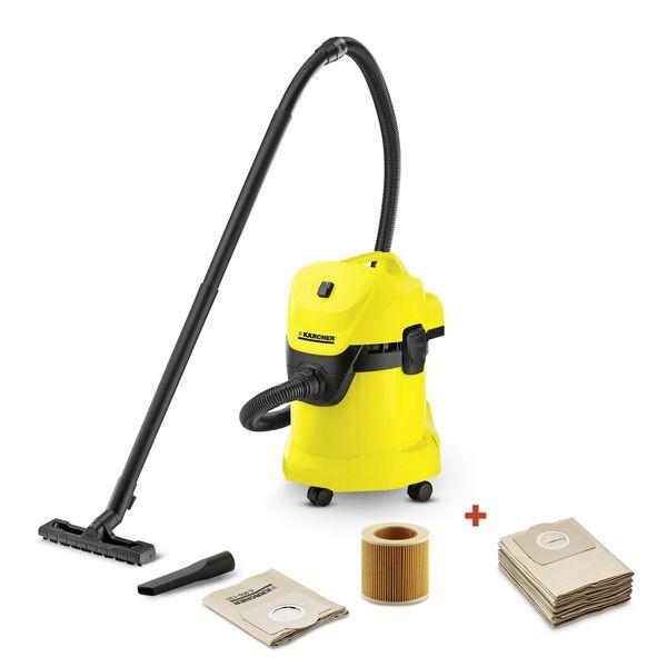 Профессиональный пылесос Karcher WD 3 1000 Вт пылесос для сухой и влажной уборки