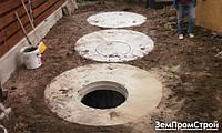 Выкопать выгребную яму с бетонных колец КС 20-9