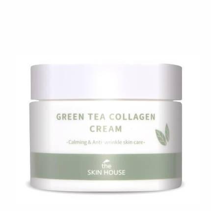Успокаивающий крем с коллагеном и экстрактом зеленого чая The Skin House Green Tea Collagen Cream, 50 мл , фото 2