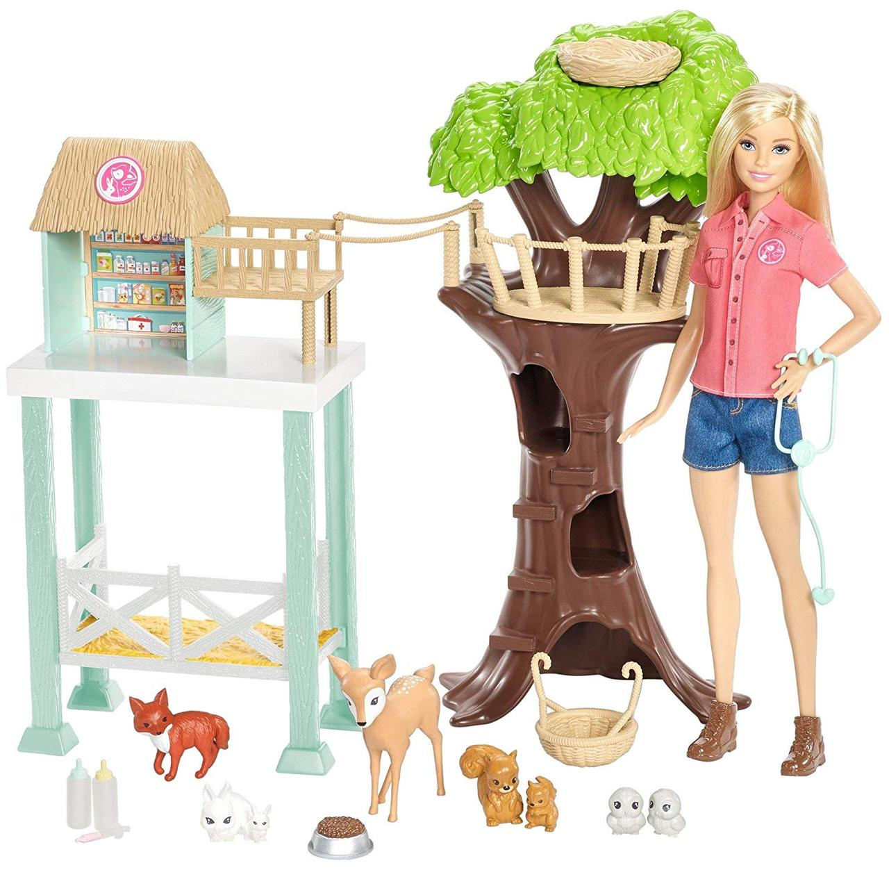 Кукла Барби Центр ухода за животными игровой набор Barbie Animal Rescuer Doll & Playset