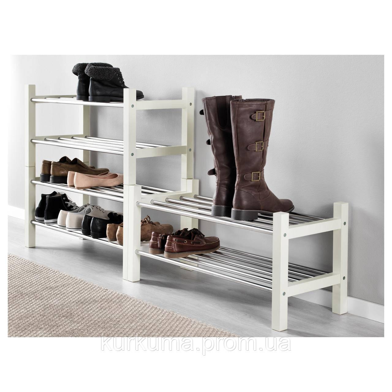 IKEA TJUSIG Скамья для обуви, белый  (301.526.38)
