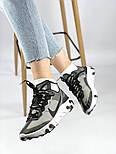 Мужские кроссовки Nike React Element 87 x Undercover Gray Black White. Живое фото. Топ реплика ААА+, фото 5