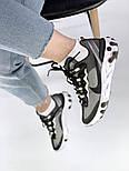 Мужские кроссовки Nike React Element 87 x Undercover Gray Black White. Живое фото. Топ реплика ААА+, фото 4