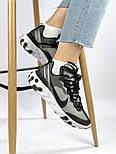 Мужские кроссовки Nike React Element 87 x Undercover Gray Black White. Живое фото. Топ реплика ААА+, фото 7
