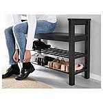 IKEA HEMNES Скамья для обуви, черно-коричневый  (702.458.72), фото 3
