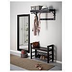 IKEA HEMNES Скамья для обуви, черно-коричневый  (702.458.72), фото 6
