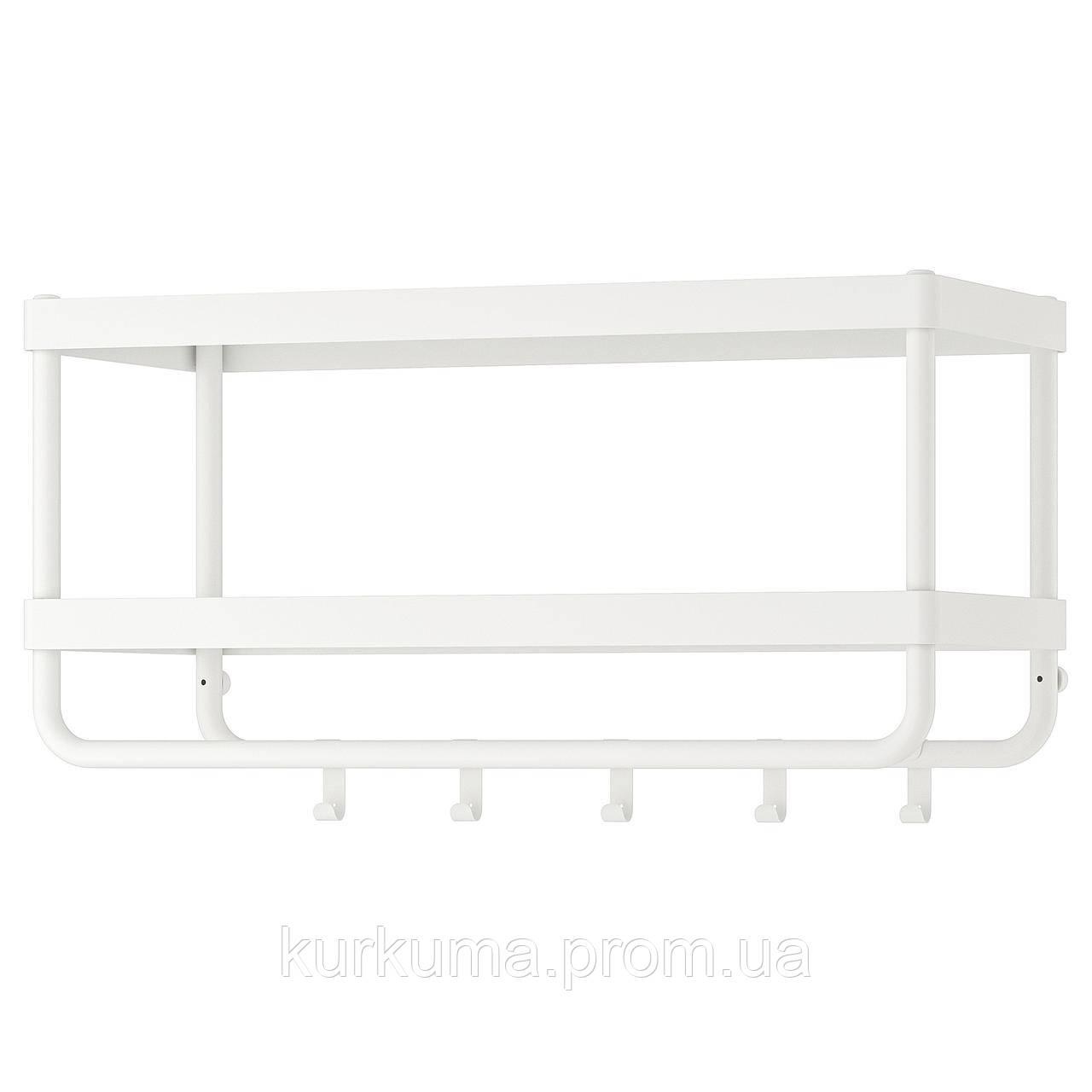 IKEA MACKAPAR Полка для головных уборов с крючками  (703.347.50)