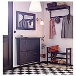 IKEA HEMNES Полка для головных уборов с крючками, черно-коричневая  (102.458.70), фото 3