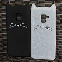 Силиконовый чехол 3D cat для Samsung Galaxy A8 2018