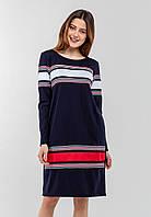 35d1d59e0ec Женское с длинными рукавами и горизонтальными вставками тесьмы Modniy Oazis  синий 90337
