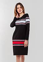 Женское с длинными рукавами и горизонтальными вставками тесьмы Modniy Oazis черный 90337/1, фото 1