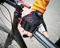 Новые, оригинальные беспалые Велоперчатки Moke L - Красные