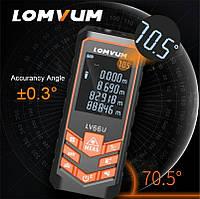 Лазерний далекомір 120м , рулетка LOMVUM lv 66u з електронним рівнем