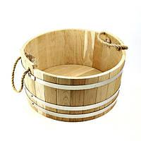 Шайка дубовая для бани и сауны 10 лтр., фото 1