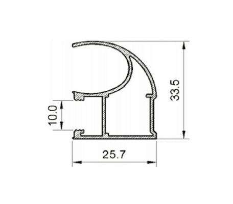 чертеж профиля закрытого для двери