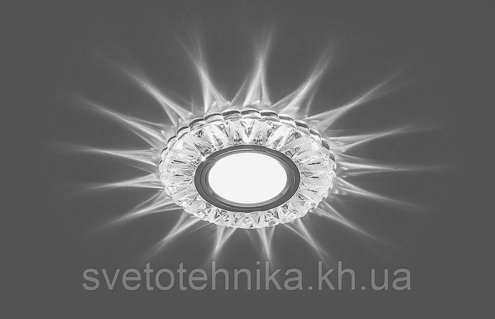 Декоративный встраиваемый светильник Feron 7103 3W MR16 с LED  подсветкой (15 LED 2835SMD 4000K)