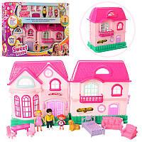 Детский домик для куколс мебелью и аксессуарами, фигурки, звук, свет, дом для кукол 16526A