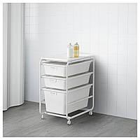 IKEA ALGOT Стеллаж с ящиками, белый  (892.761.75)