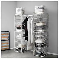 IKEA ALGOT Стеллаж с ящиками, белый  (692.763.17)