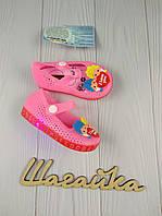 Босоножки балетки детские на девочку сандали розовые 24,27 с подстветкой (12,5,14 см)