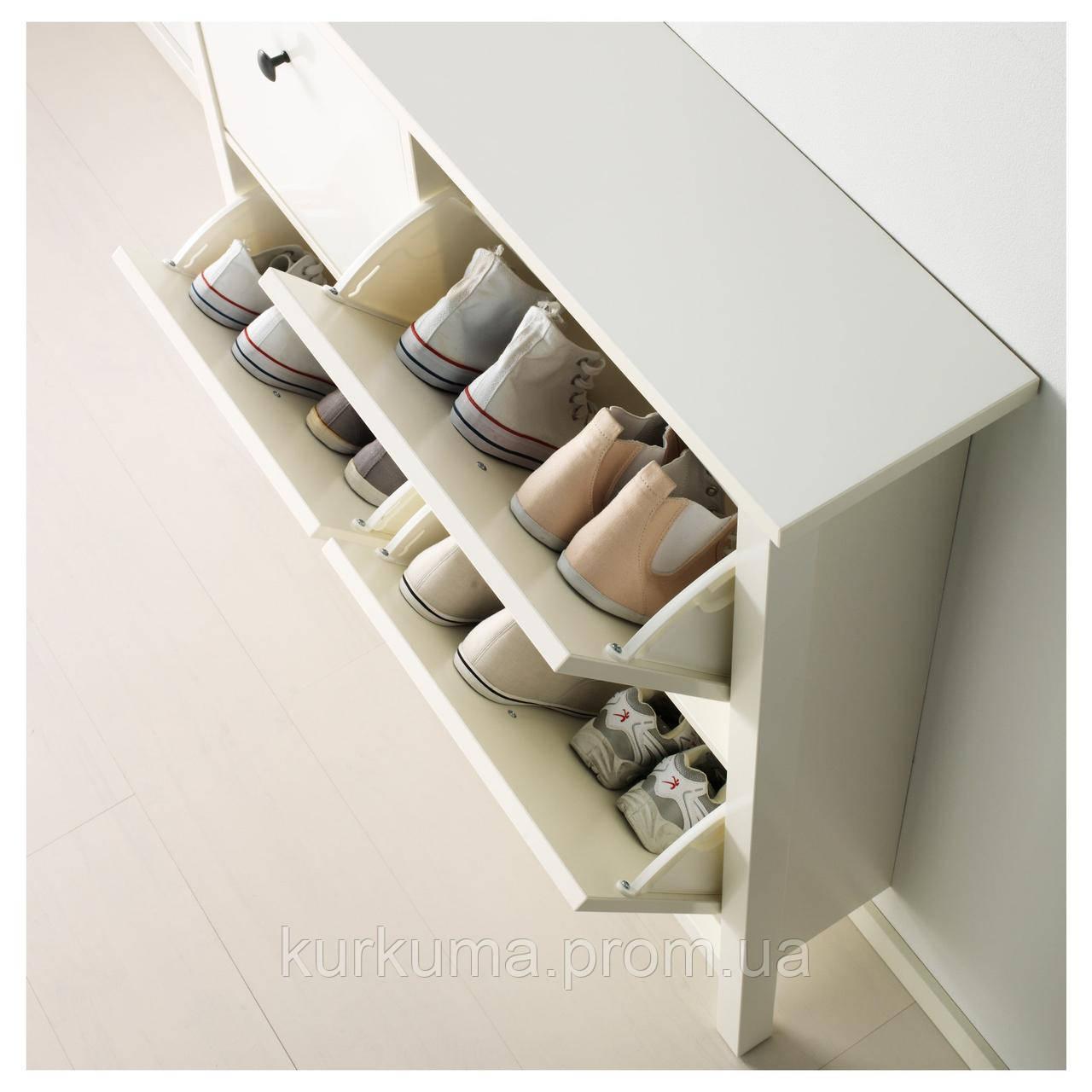 IKEA HEMNES Шкаф для обуви, белый  (601.561.21)