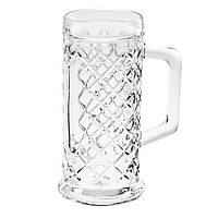 Бокал стеклянный для пива  Rhombus Beer Tankard 500мл. Uniglass