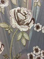 Гардина Роза вышивка, фото 1
