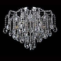 Хрустальная люстра СветМира на 10 лампочек VL-30813/10 (хромированная)
