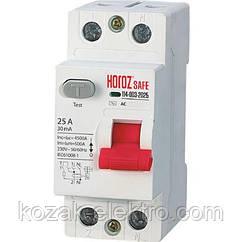 Устройство защитного отключения (УЗО) 2P 25A  30mA  230V