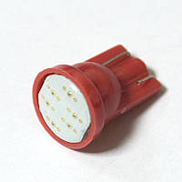 LED Galaxy T10 ( W5W ) COB 1PC 6 chip Red (Красный)