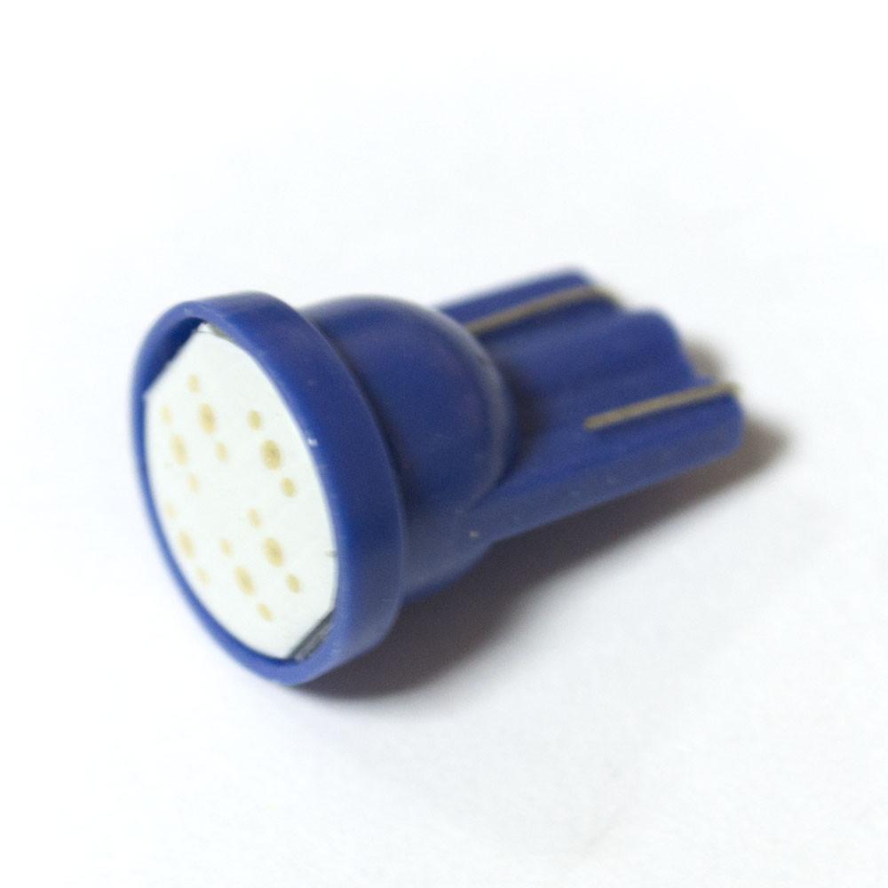LED Galaxy T10 ( W5W ) COB 1PC 6 chip Blue (Синий)