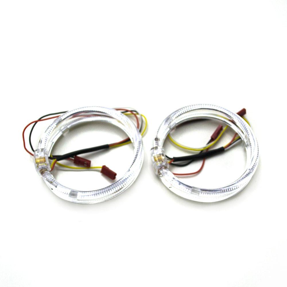Ангельські оченята LED 80 мм CREE 3535 2SMD White/Yellow (Білий/Жовтий)