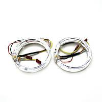 Ангельские глазки LED 80 мм CREE 3535 2SMD White/Yellow (Белый/Желтый)